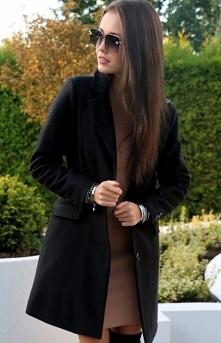 Wełniany płaszcz damski Roc...