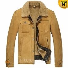 Men Sheepskin Jacket | Classic Sheepskin Cowboy Jacket CW809217 | CWMALLS.COM