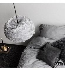 Lampa z piór - delikatna i elegancka