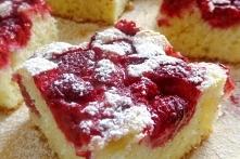 Ekspresowe ciasto z malinami