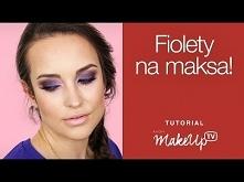 Wieczorowy makijaż w fiolet...