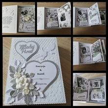 Rozkładana kartka ślubna