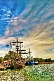 Krajobraz z pięknego Gdańska