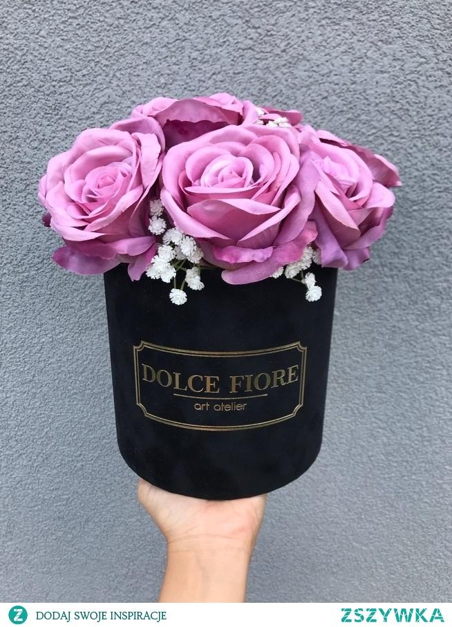 Zamszowy flower box