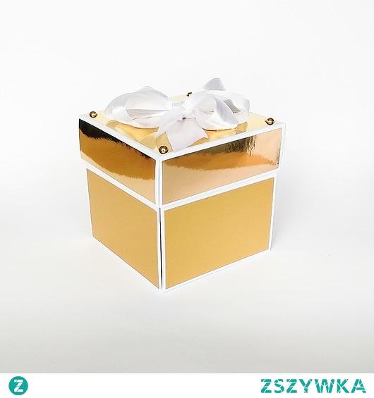 Pamiątka ślubu, exploding box, kartka