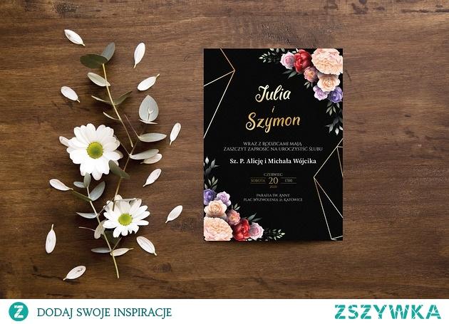 Zaproszenie ślubne z serii modern
