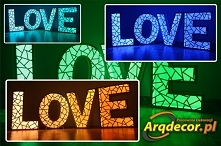 LOVE (geometryczny). LED-RG...