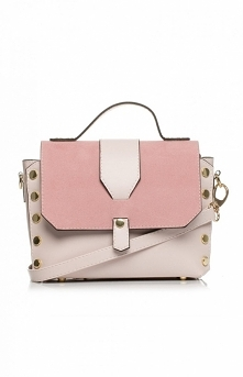 Style Mała torebka na pasku pudrowa SB389