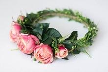 Wianek na głowę - róże