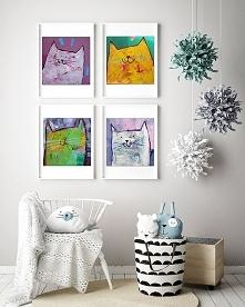 4 kociaszony 3- plakat 50x50