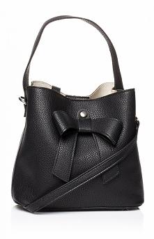 Style Czarna torebka z kokardą SB442