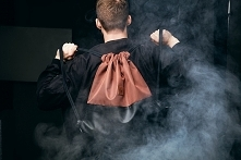 Brązowo-czarny plecak - loo...