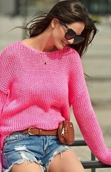 Numinou Oversizowey sweter neonowy S60