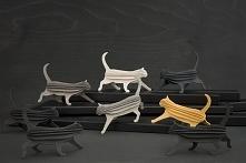 Kot z drewna 3D, długość 12 cm