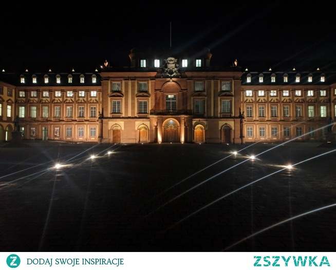 Mannheim nocą - Niemcy