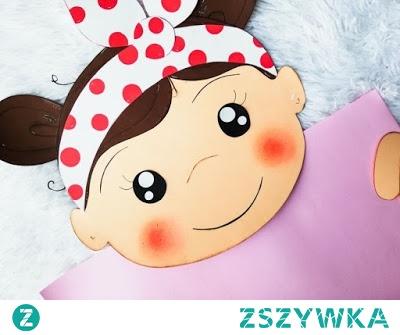 Dziewczynka - dekoracja z papieru :)
