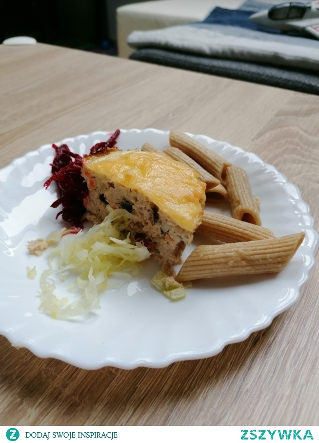 Mielone  z chińska mieszanka zapiekane w foremkach na babeczki, z serem #Dieta dziecka
