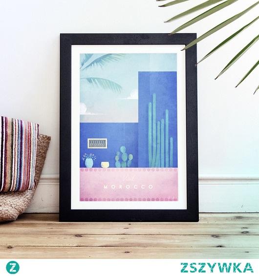 Maroko - vintage plakat 50x70 cm