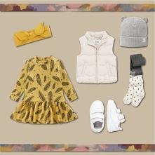 Na blogu zobaczyć można zestaw ubrań na jesień dla dziewczynki. Zaprezentowan...