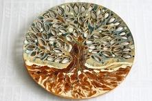 Ceramiczy talerz - Zimowy D...