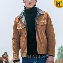 Sydney Men Suede Cowhide Leather Jacket CW818303   CWMALLS.COM
