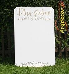 Plan stołów-tablica ślubna ...