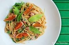Spaghetti z figami, boczkie...