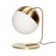 Lampa stołowa Haga złota me...