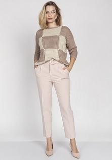 Sweter we wzór, SWE172 beż/...