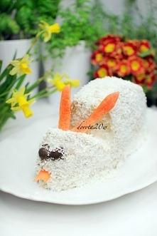 tort wielkanocny zajączek