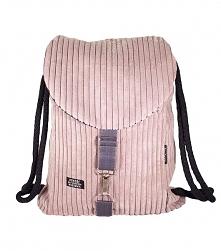 Plecak różowy sztruks