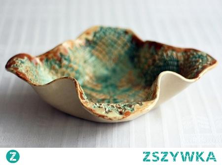 Ceramiczna miska - Garnierite. Rękodzieło - unikalny kształt.