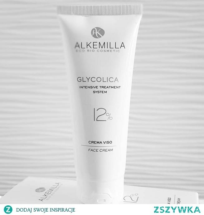 Intensywnie nawilżający krem do twarzy z kwasem glikolowym Alkemilla Glycolica 12%