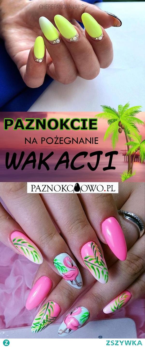 Paznokcie na Pożegnanie Wakacji – TOP 24 Niesamowite Inspiracje Które Musicie Zobaczyć!