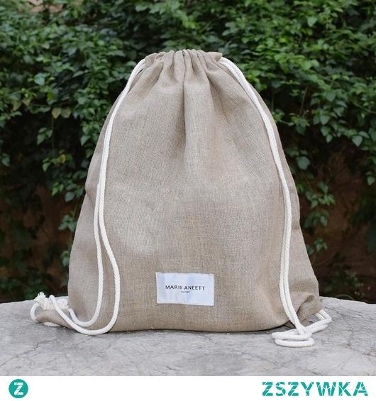 Eco Vegan Unisex Worek/Plecak  LUNA len 100%