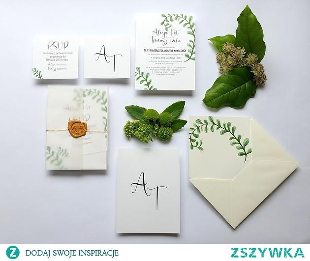 Zaproszenia ślubne Seria Botanic FD5