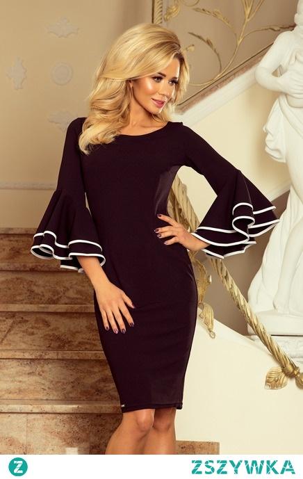 Elegancka ołówkowa sukienka hiszpańskie rękawy sukienki.shop