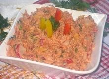 z makreli,rzodkiewki,papryk i koncentratu pomidorowego