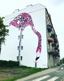 Mural przy ulicy Krakowskie...