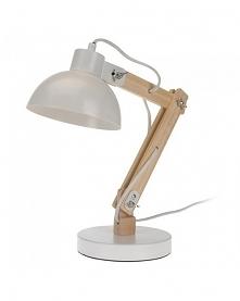 Lampa Biurkowa Drewniana biała