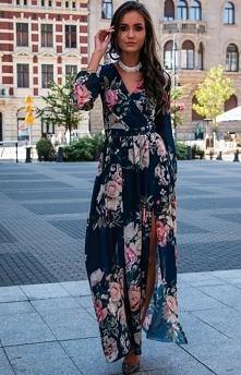 Sukienka maxi w piękne kwiaty