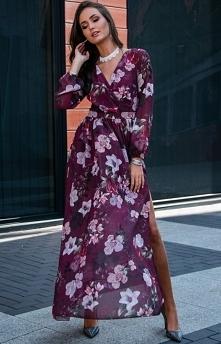Efektowna długa sukienka Roco