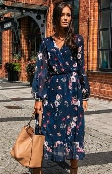 Sukienka midi w kwiaty 0241...