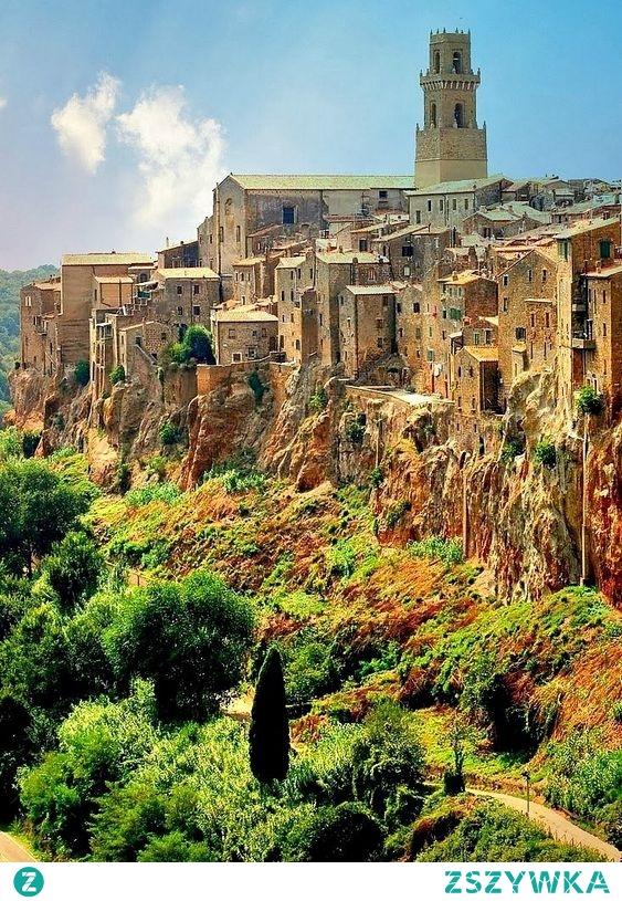 Piękny krajobraz Pitigliano, Toskania