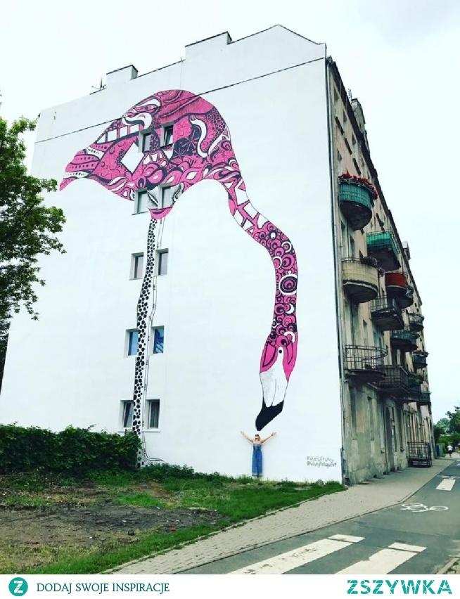 Mural przy ulicy Krakowskiej we Wrocławiu.