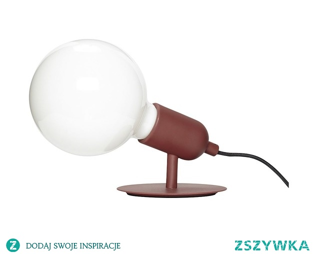 Lampa stołowa Marla czerwona metal 10cm