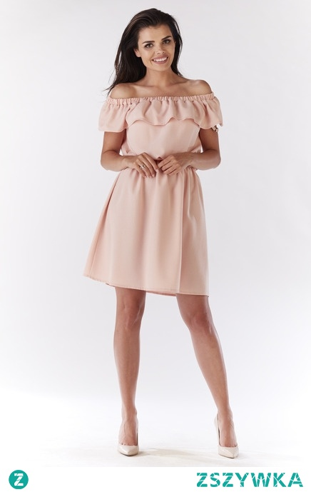 LETNIA SUKIENKA HISZPANKA Z ROMANTYCZNĄ FALBANKĄ sukienki.shop