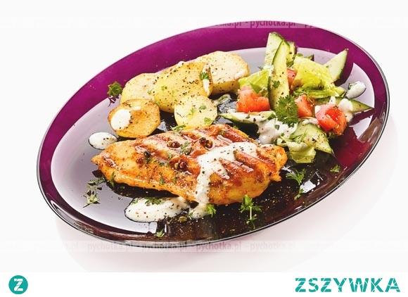 Aromatyczny kurczak z warzywami  grillaowany