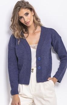 Fobya Krótki sweterek jeansowy F767