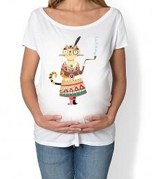 koszulka ciążowa. kotka Ind...